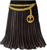 Moschino trompe-l'oeil pleated skirt