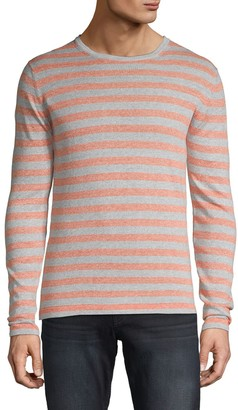 Saks Fifth Avenue Striped Cotton & Linen-Blend Tee