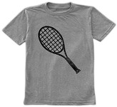 Urban Smalls Boys' Tee Shirts Heather - Heather Gray Tennis Racket Tee - Toddler & Boys