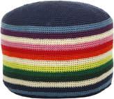 Anne Claire Multi Crochet Pouf - 23x35cm