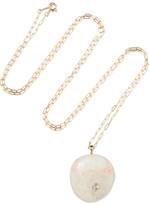 Cvc Stones Rimbaud 18-karat Gold, Stone And Diamond Necklace - one size
