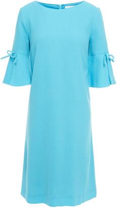 Goat Irinna Bow-embellished Wool-crepe Mini Dress