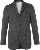 Beams Plus - Grey Slim-fit Harris Tweed Wool Blazer