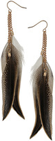 Dorothy Perkins Brown feather drops