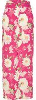 River Island Womens Pink floral print maxi skirt