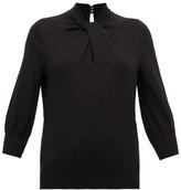Erdem Rumer Twisted-neckline Cashmere-blend Sweater - Womens - Black