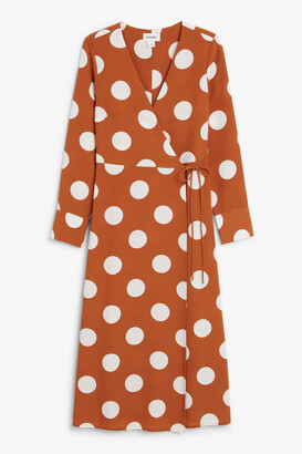 Monki Fitted wrap dress