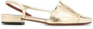 L'Autre Chose Metallic Slingback Loafers