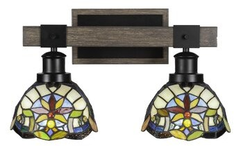 Rosalind Wheeler Sangster 2 Light Dimmable Matte Black Vanity Light Shopstyle
