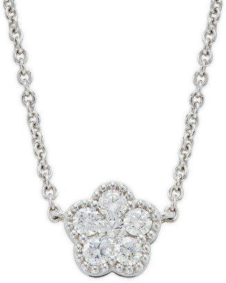 Roberto Coin 18K White Gold, Ruby & Diamond Flower Necklace