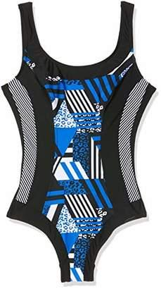 Sun Marin Sunmarin Women's Fresh Blueberry Striped Swimsuit,(Manufacturer Size: 38C)