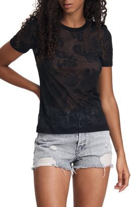 Rag & Bone Valencia Hawaiian Floral Burnout T-Shirt