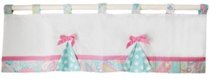 My Baby Sam Pixie Baby in Aqua Curtain Valance Bedding
