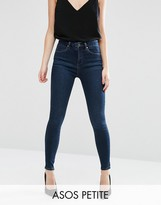 Asos Sculpt Me High Rise Premium Jeans in Sapphire Wash
