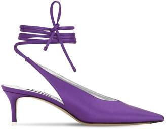 ATTICO The 50mm Satin Lace-up Pumps