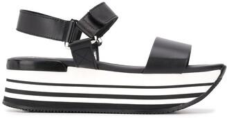 Hogan Two Tone Platform Sandals
