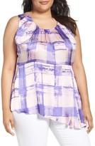 Melissa McCarthy Plus Size Women's Asymmetrical Peplum Blouse