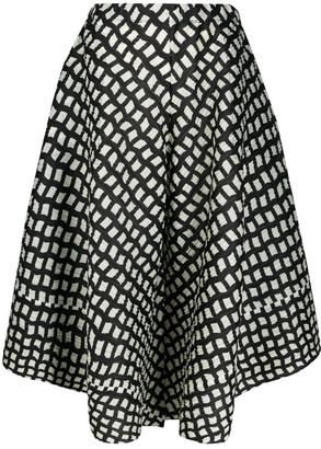 Pleats Please Issey Miyake Step Asymmetrical Trousers