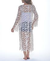 Paparazzi Natural Crochet Open Cardigan