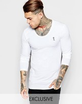 Religion Muscle Fit Long Sleeve Top - White