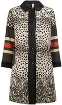 Herno x Pierre-Louis Mascia printed coat - women - Silk/Polyester/Lamb Fur - 40