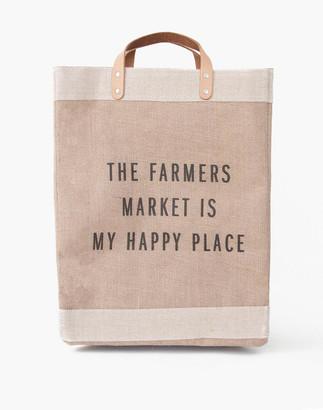 Madewell Apolis The Farmer's Market Is My Happy Place Reusable Market Tote Bag