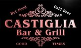 AdvPro Name u07340-r CASTETTER Family Name Bar & Grill Cold Beer Neon Light Sign