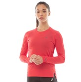 Asics Womens Seamless Long Sleeve Running Top Red Alert