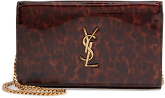 Saint Laurent Kate Calfskin Leather Wallet on a Chain