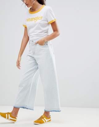 Wrangler Wide Leg Cropped Jean-White