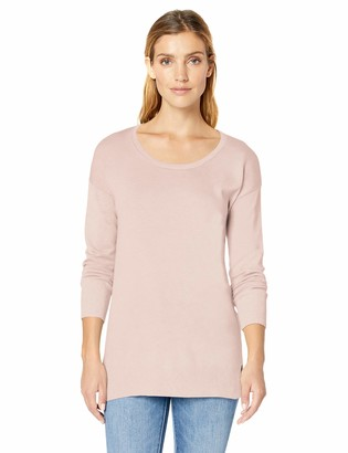 Amazon Essentials Women's Lightweight Long-Sleeve Scoopneck Tunic Sweater