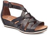 Dansko Vivian Vintage Leather Criss Cross Banded Gladiator Wedge Sandals