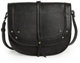 Sole Society Faylina Studded Faux Leather Saddle Bag - Black