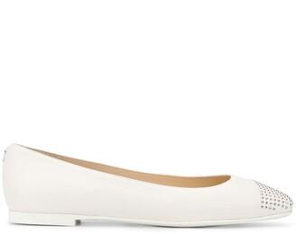 Jimmy Choo Davia square-toe ballerina shoes