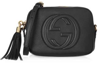 Gucci Soho Disco Textured-leather Shoulder Bag - Black