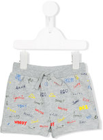 Stella McCartney Names print shorts - kids - Cotton - 12 mth