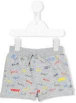 Stella McCartney Names print shorts - kids - Cotton - 9 mth