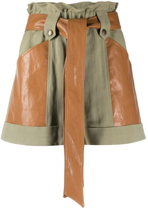 Twin-Set Belted Flared Shorts