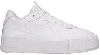 Puma Cali Sport Sneakers In White Leather