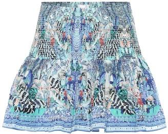 Camilla Printed silk miniskirt
