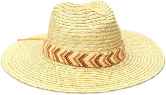 Physician Endorsed Women's Nola Hand Woven Trim Fedora Sun Hat Rated UPF 50+ for Max Sun Protection