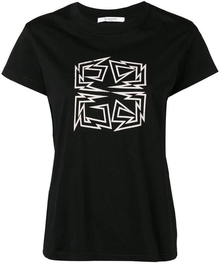 Givenchy distressed hem 4G logo T-shirt