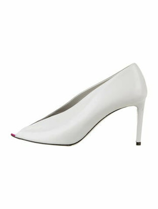 Balenciaga Leather Pumps White