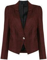 Andrea Bogosian - plaid blazer - women - Linen/Flax/Viscose/Wool - P