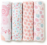 Aden Anais Aden + Anais Baby Boys Tea Fish Pond 4-Pack Muslin Swaddle Blankets