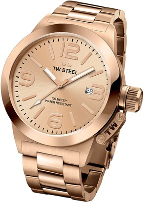 TW Steel 'Canteen' Quartz Gold Watch(Model: CB402)