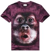 West Bank Westbank Men's Shirt Short Sleeve 3D Printed Picture Monkey Casual Tops
