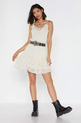 Nasty Gal Womens Tiers Of Joy Ruffle Mini Dress - White - 6
