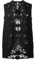 Sea Embroidered Cut Out Top