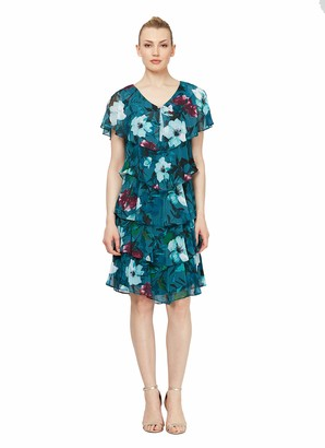 SL Fashions Women's Tiered Pebble Dress (Petite and Regular Sizes)